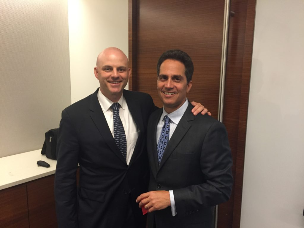 Rod Santomassimo with Cushman & Wakefield President, NY-Tri-State Region, Ron Lo Russo