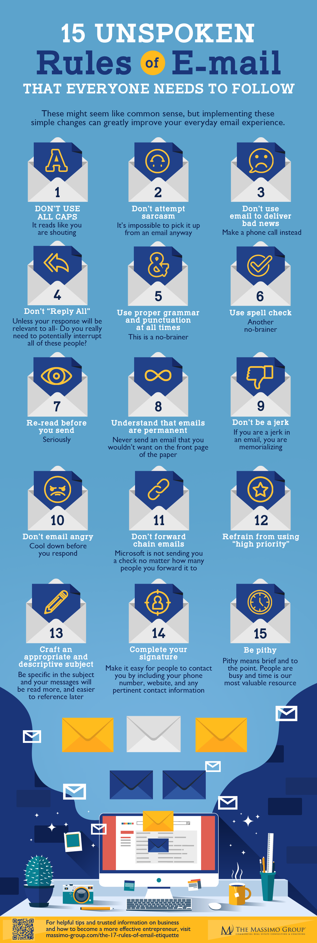 15 Tips of Email Etiquette
